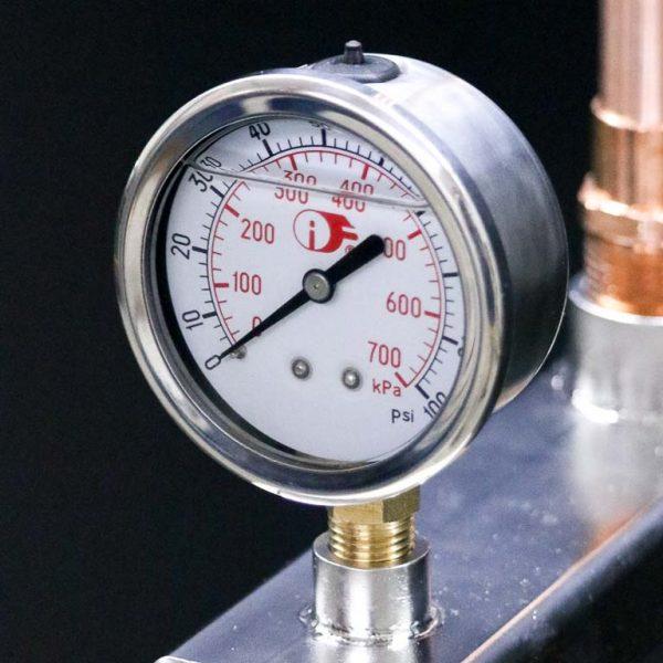 100 psi liquid-filled pressure gauge for PlumbM8 Pro-Plus models
