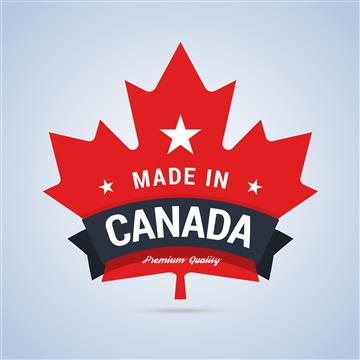 Made in Canada maple leaf
